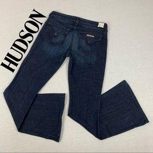 "Hudson Ferris 24"" Boot Flare Opening Dark Jeans"